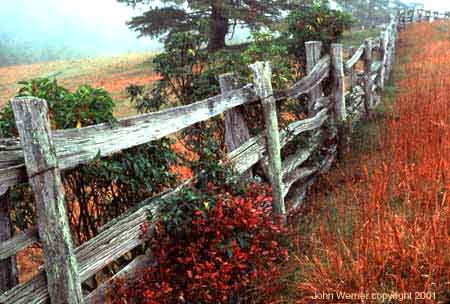 photo of country fence